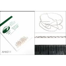 AH6011 Аврора хобби Цепь плетеная якорная - звено 1,7х1,0 мм (медь), длина 50 см
