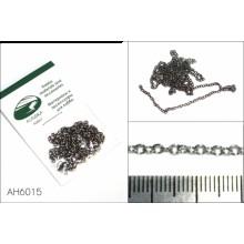 AH6015 Цепь плетеная якорная - звено 3,0х2,0 мм (сталь), длина 50 см