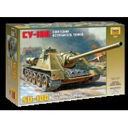 3531 Звезда Советский истребитель танков СУ-100, 1/35