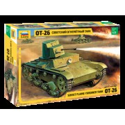 3540 Звезда Советский лёгкий огнеметный танк ОТ-26, 1/35