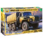3654 Звезда Российский армейский грузовик Урал-4320, 1/35