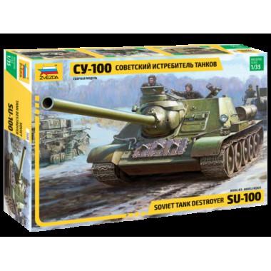 3688 Звезда Советский истребитель танков СУ-100, 1/35
