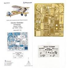 МД 032212 Микродизайн Фототравление Gloster Gladiator. Интерьер (ICM), 1/32
