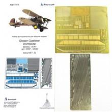 МД 032213 Микродизайн Фототравление Gloster Gladiator. Экстерьер (ICM), 1/32