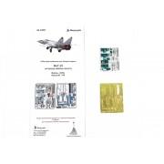 МД 048002 Микродизайн МиГ-25 кабина пилота (ICM) цветные приборные доски, 1/48