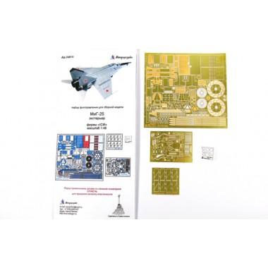 МД 048214 Микродизайн МиГ-25 (все типы). Экстерьер (ICM), 1/48