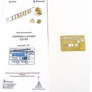 МД 072215 Микродизайн Фототравление Стремянка и колодки Су-33 , 1/72