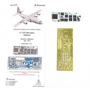 МД 072267 Микродизайн C-130 Hercules (Геркулес) кабина (Звезда), 1/72
