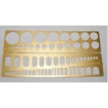 МД 100204 Микродизайн Трафарет для нанесения расшивки N 3