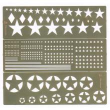 МД 100205 Микродизайн Трафарет покрасочный Звезды