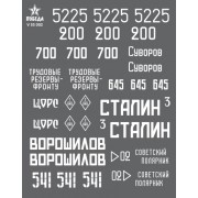V35002 ПОБЕДА Маркировка танков КВ. ВОВ. Набор 1. 1/35