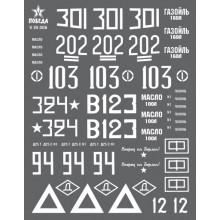 V35006 ПОБЕДА Маркировка танков ИС-2. ВОВ. Набор 1. 1/35