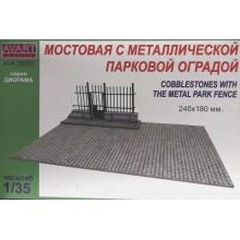 AVA35501 AVART ARHIVE Мостовая с металлической парковой оградой (240X180 мм), 1/35