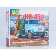 1258KIT AVD models Сборная модель Контейнерный мусоровоз КО-450 (4333), 1/43