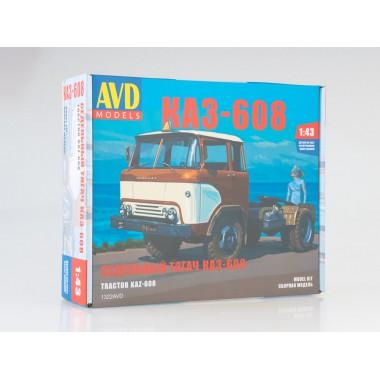 1322AVD AVD models Седельный тягач КАЗ-608, 1/43