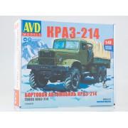 1343AVD AVD models Сборная модель КРАЗ-214 бортовой с тентом, 1/43
