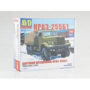 1344AVD AVD models Сборная модель КРАЗ-255Б1 бортовой, 1/43