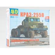 1346AVD AVD models Сборная модель КРАЗ-255В cедельный тягач , 1/43