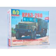 1348AVD AVD models Сборная модель КРАЗ-260 бортовой (ранний), 1/43