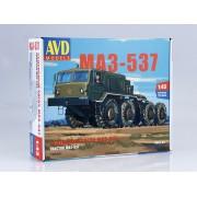 1353AVD AVD models Сборная модель Седельный тягач МАЗ-537, 1/43