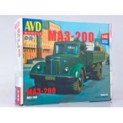 1365AVD AVD models Сборная модель МАЗ-200 бортовой, 1/43