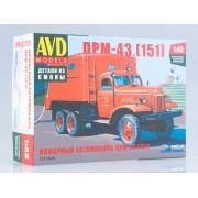 1377AVD AVD models Сборная модель Пожарный автомобиль ПРМ-43 (151), 1/43