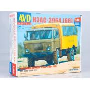 1383AVD AVD models Сборная модель Вахтовый автобус НЗАС-3964 (66), 1/43