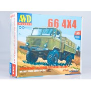1384AVD AVD models Сборная модель Армейский грузовик Горький-66 4х4, 1/43