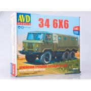1390AVD AVD models Сборная модель Армейский грузовик 34 6x6, 1/43