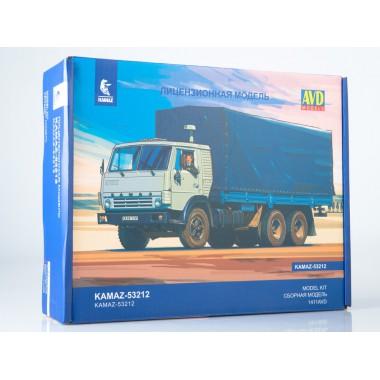 1411AVD AVD models Сборная модель КАМАЗ-53212 бортовой с тентом, 1/43