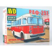 4034AVD AVD models Сборная модель Автобус РАФ-251, 1/43