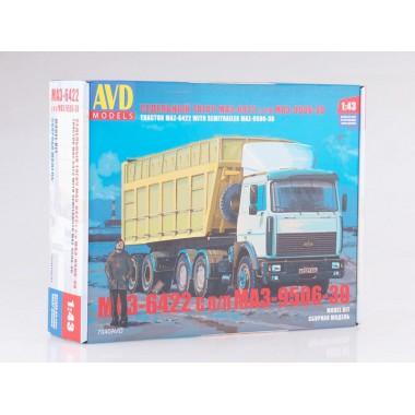7040AVD AVD models Сборная модель МАЗ-6422 с полуприцепом МАЗ-9506-30, 1/43