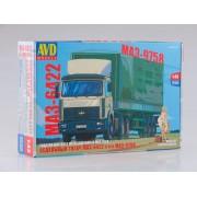 7043AVD AVD models Сборная модель МАЗ-6422 с полуприцепом МАЗ-9758, 1/43
