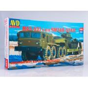 7045AVD AVD models Сборная модель МАЗ-537 с полуприцепом ЧМЗАП-5247Г , 1/43