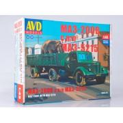 7057AVD AVD models Сборная модель МАЗ-200В с полуприцепом МАЗ-5215, 1/43