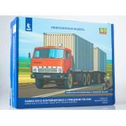 7064AVD Сборная модель КАМАЗ-53212 контейнеровоз с прицепом ГКБ-8350, 1/43