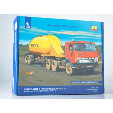 7066AVD AVD models Сборная модель КАМАЗ-54112 с полуприцепом АСП-25, 1/43
