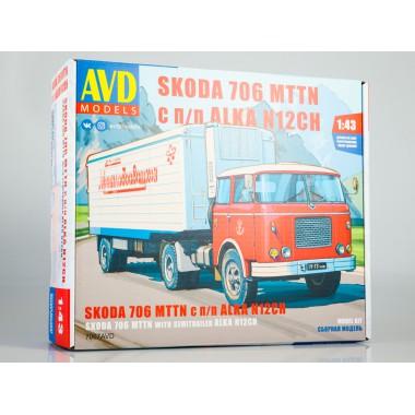 7067AVD AVD models Сборная модель SKODA-706 MTTN с полуприцепом ALKA-N12CH, 1/43