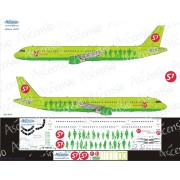 321-004 Ascensio Декаль на Airbus A321 S7 Airlines, 1/144