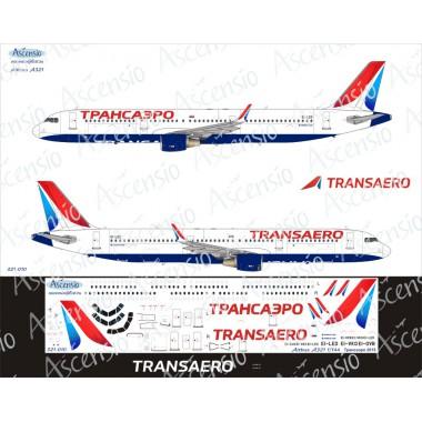 321-010 Ascensio Декаль на Airbus A321 Трансаэро 2015, 1/144