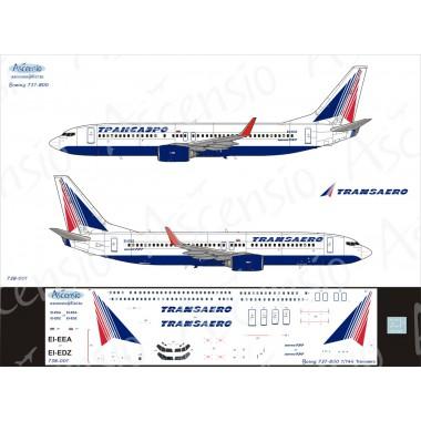 738-001 Ascensio Декаль на Boeing 737-800 Трансаэро, 1/144