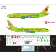 738-002 Ascensio Декаль на Boeing 737-800 S7 Airlines, 1/144