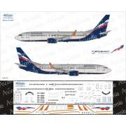 738-015 Ascensio Декаль на Boeing 737-800 Аэрофлот Российские Авиалинии, 1/144