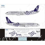 738-024 Ascensio Декаль на Boeing 737-800 SkyTeam (Аэрофлот Российские Авиалинии) , 1/144