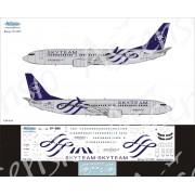 738-024 Ascensio Декаль на Boeing 737-800 SkyTeam (Аэрофлот Российские Авиалинии) , 1/144