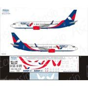 738-034 Ascensio Декаль на Boeing 737-800 Azur Air, 1/144