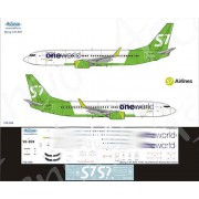 738-068 Ascensio Декаль на Boeing 737-800 One World (S7 Airlines new), 1/144