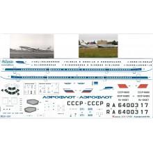 Т20-001 Ascensio Декаль на ТУ-204 Аэрофлот classik 80-90х, 1/144