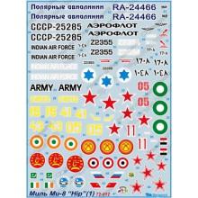72-012 Begemot Декаль на Миль Ми-8 HIP, 1/72
