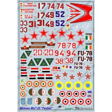 72-015 Begemot Декаль на Микоян МиГ-25 Foxbat, 1/72
